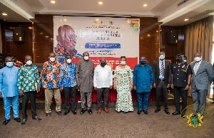 President Akufo-Addo in a group photo with some experts
