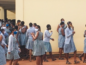 Students of Accra Girls' SHS recorded some COVID-19 cases