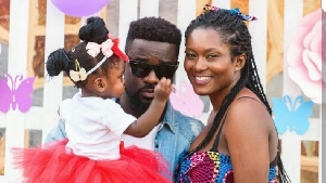 Sarkodie and family