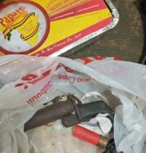 Gun concealed in food pack
