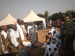 At the installation of Horti  traditional leaders