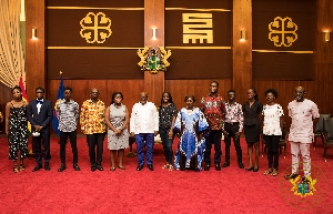 President Nana Akufo-Addo hosting the students at the Jubilee House