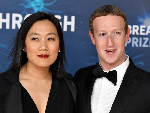 Mark Zuckerberg and wife Priscilla Chan