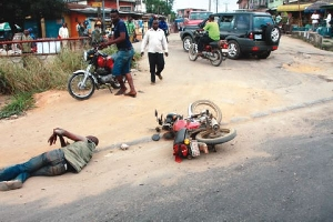 An accident involving a motorcycle and a cargo vehicle has on Wednesday, 21 October 2020 claimed the lives of two persons