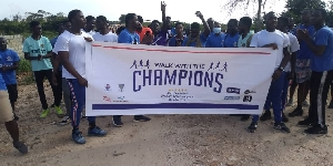 Participants during the walk