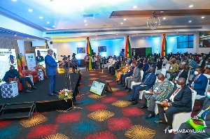 Dr Bawumia addressing audience