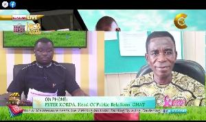 CTV's Anopa Dwabre Mu host Kwame Appiah Kubi (L) with GNAT PRO Peter Korda (R)