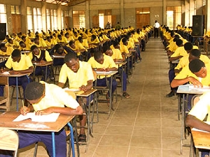 Some students sitting the exam
