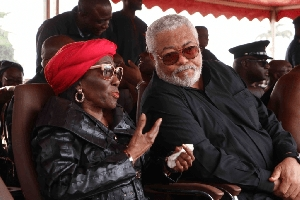 Nana Konadu Agyemang Rawlings and her late husband