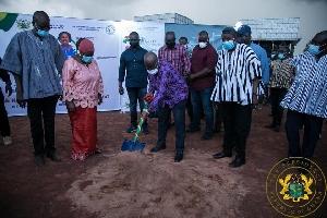 President Akufo-Addo cut the sod on Thursday